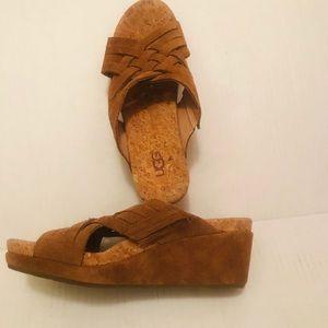 Ugg, Lilah  Cork Wedges Sandals  6